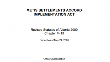 metis settlement accord and implementation act
