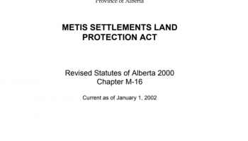 metis settlement land protection act